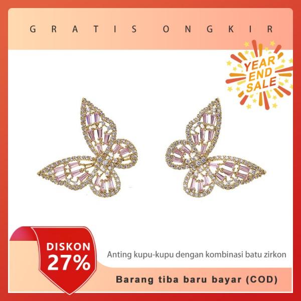 Anting kupu-kupu dengan kombinasi batu z..