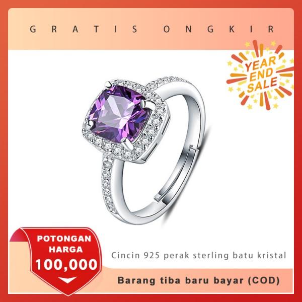cincin 925 perak sterling batu kristal,S..
